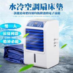 ◎對抗酷暑的最佳利器, 有了水冷床墊不再讓身體讓得發燙, ◎讓你以最小的成本獲得最大的涼爽體會 ◎規格:雙人5尺類型:冷凝墊尺寸(公分):size160x140材質說明:PVC顏色:白色系,藍色系
