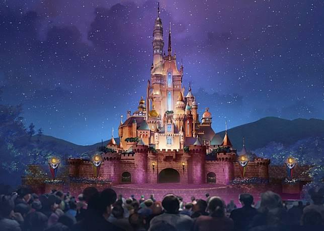 正在擴建的原「睡公主城堡」將正式命名為「奇妙夢想城堡」。(迪士尼提供)