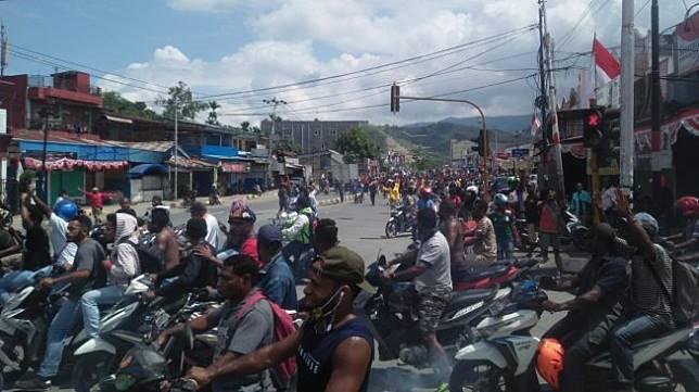 Kerusuhan di Manokwari Papua. (Istimewa)