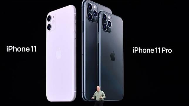 Apple Senior Vice President of Worldwide Marketing Phil Schiller memperkenalkan iPhone 11 dan iPhone 11 Pro saat peluncuran resminya di Cupertino, Calilfornia, Amerika Serikat, (11/9/2019) dini hari WIB. [AFP/Josh Edelson]