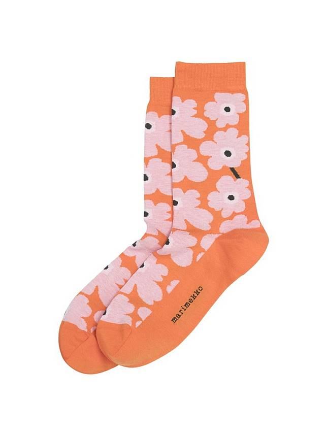 Marimekko橙X粉紅色花花襪 (互聯網)