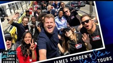 〔復仇者聯盟〕超威!《復仇者》群星微服出巡,登上詹姆斯柯登好萊塢觀光巴士!