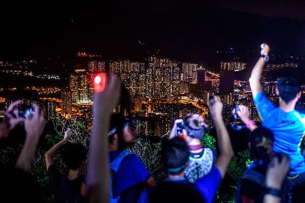 Para demonstran di Hong Kong