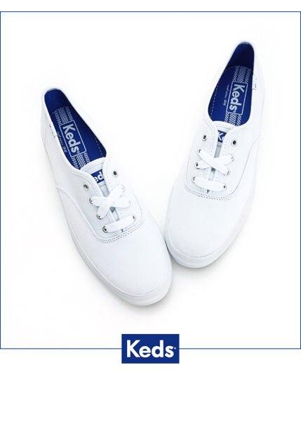 【領券滿1200再折120】KEDS 171W130026 經典厚底帆布鞋 白鞋綁帶懶人鞋厚底休閒鞋