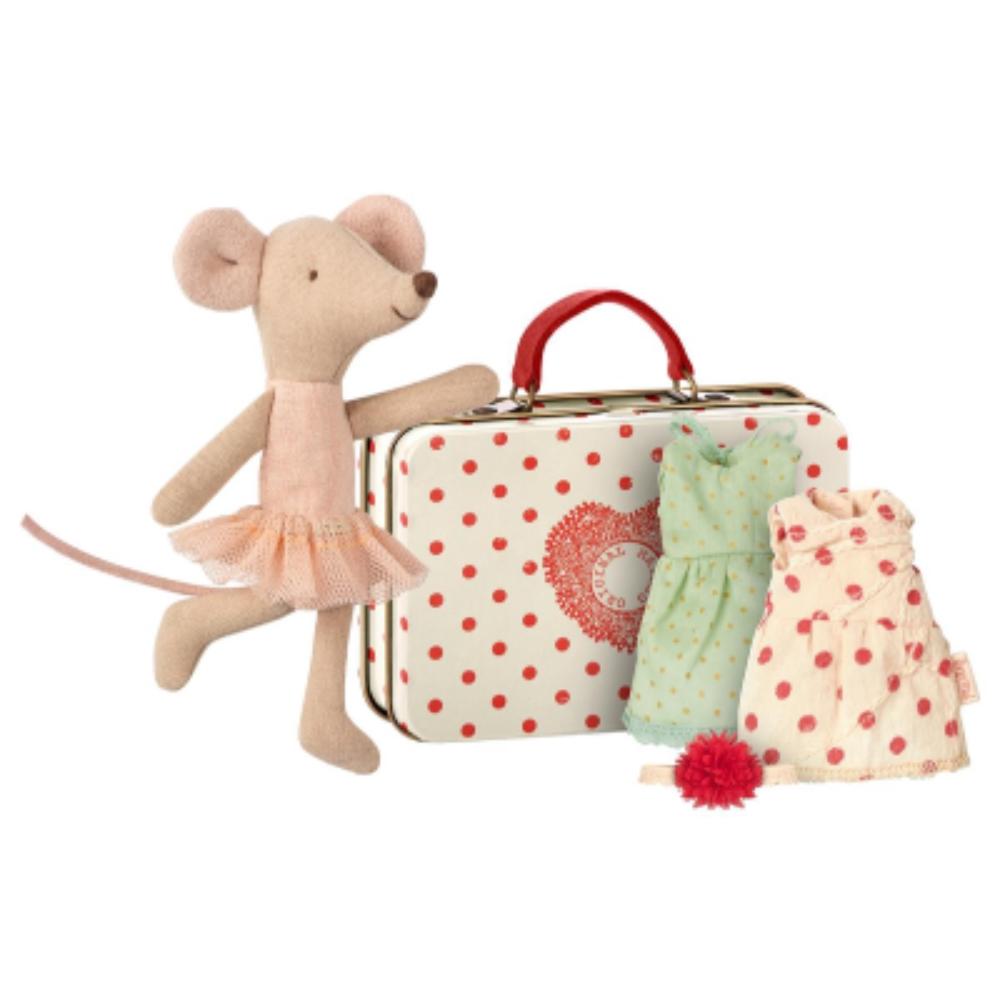 《maileg》玩偶-行李箱芭蕾小鼠內附兩件洋裝