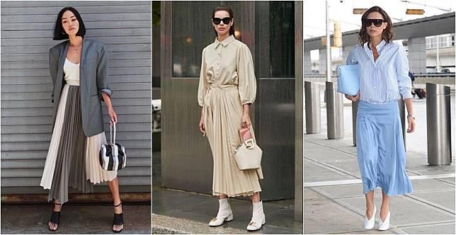 舊衣搭出新風格~過膝百褶裙3搭法,變身當季時髦春裝