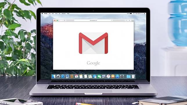 Ilustrasi Gmail di desktop. [Shutterstock]