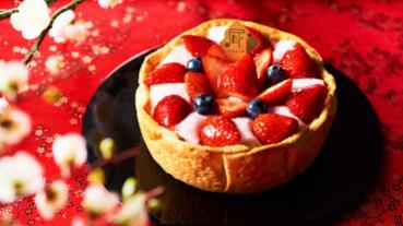 滿滿的草莓大平台! 日式大福、千層蛋糕結合酸甜草莓 喜氣又夢幻
