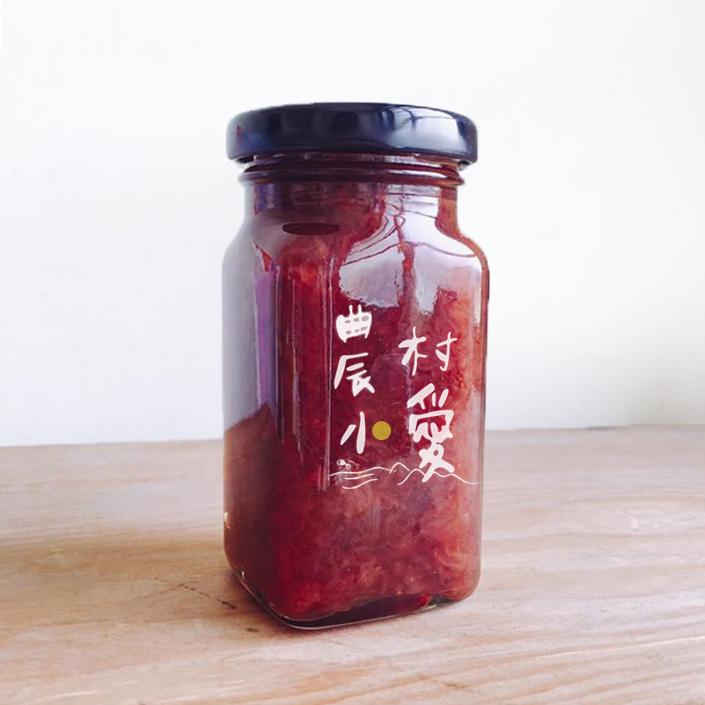 【台灣農業讚】農村小愛-有機草莓果醬 (130g/瓶) *1瓶,免運