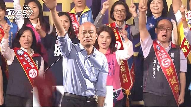 韓國瑜6月1日全國造勢大會,妙天禪師出手籌辦。圖/TVBS