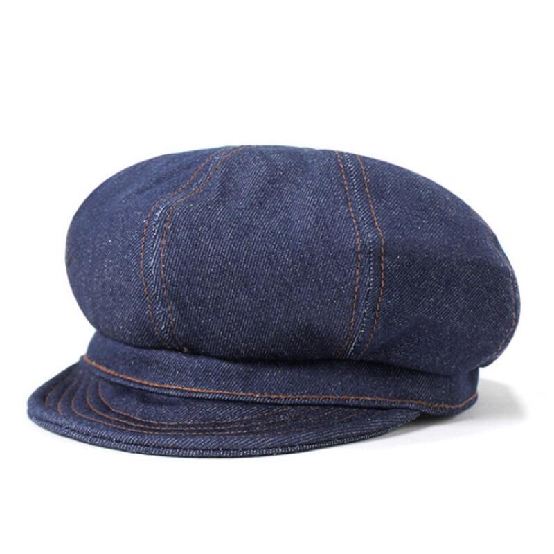 美國NEW YORK HAT - DENIM STITCH SPITFIRE 丹寧布報童帽經典帽款報童帽,以硬挺的藍色丹寧布製作。美國製丹寧材質因拍照多少會有色差,請確認後再下標。下標前請先詢問是否有