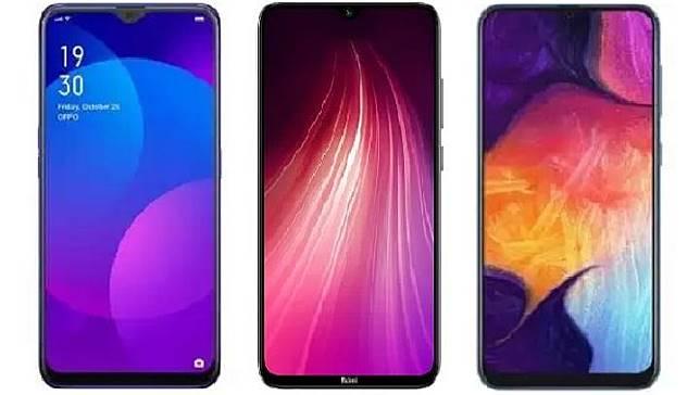 Oppo F11, Redmi Note 8, Samsung Galaxy A50