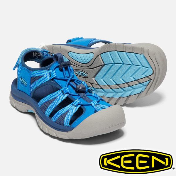 ●美國KEEN知名戶外涼鞋,強調護趾及穿著舒適感。 n●織帶內層採用舒適泡棉,同時具有快乾的特性。