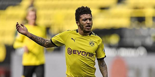 Pemain Borussia Dortmund Jadon Sancho. (c) AP Photo
