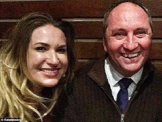 Vikki Campion dan Wakil PM Australia, Barnaby Joyce. Daily Mail