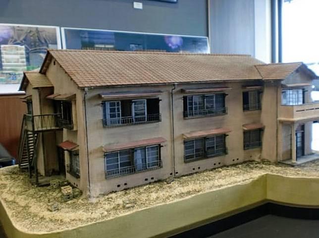 常盤莊的模型,從前木造房子的模樣。(互聯網)
