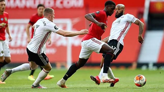 Anthony Martial Hattrick, MU Bantai Sheffield United