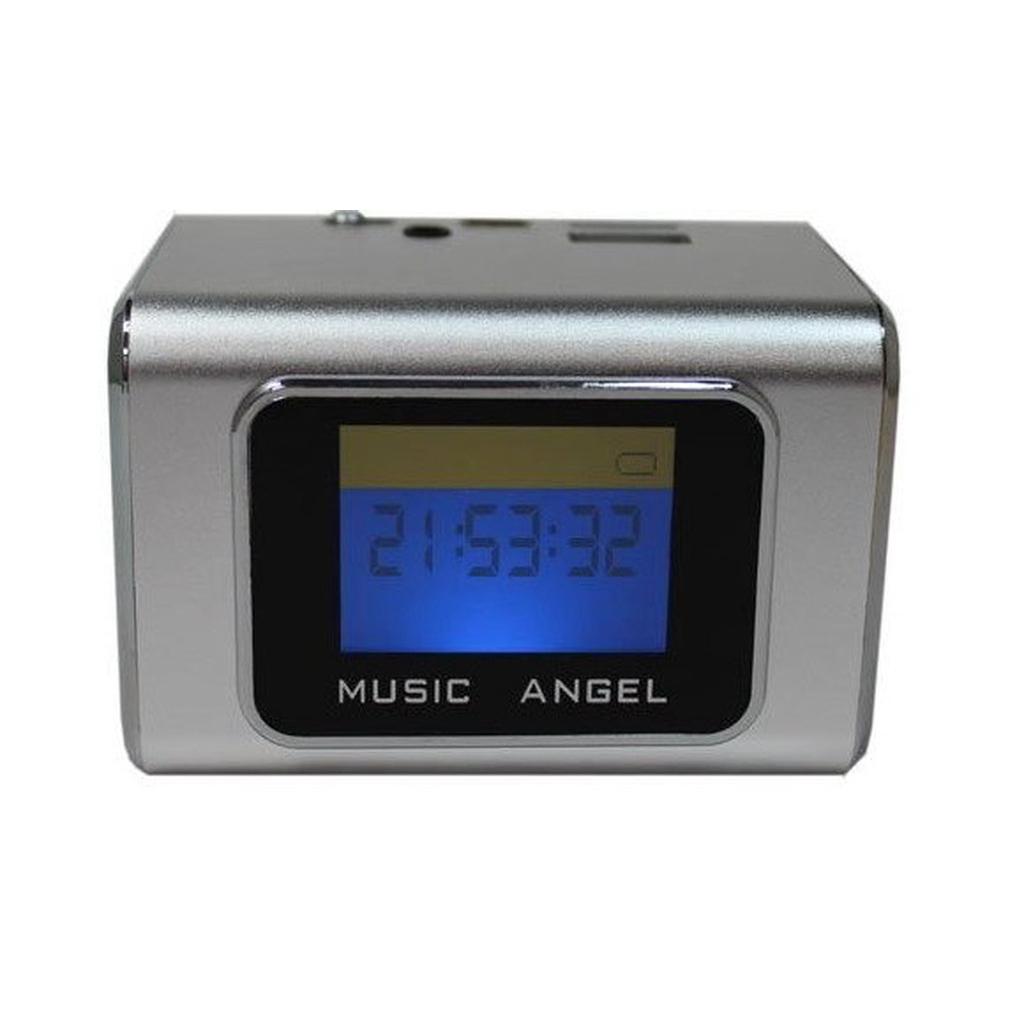 音樂天使MD-05X 銀色, 含繁體中文字幕鋁合金音箱喇叭撥放器,優雅的線條演繹,具有時尚外型和便簡設計,可在喇叭本體後方雙插槽使用TF記憶卡與USB隨身碟當MP3記憶體使用,TF記憶卡與USB隨身碟