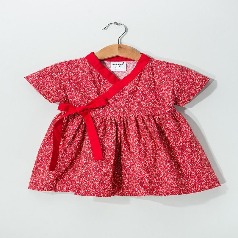 嫣紅絢爛-小洋裝 L—2-4歲