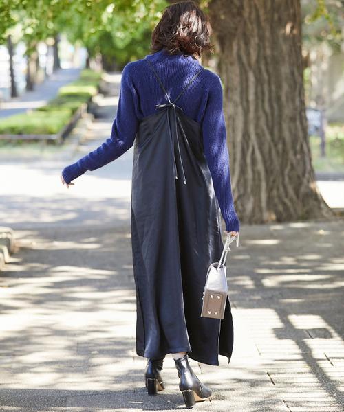 背後細節設計細肩帶連身裙