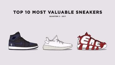 2017 年第二季,最有價值球鞋排行榜出爐!