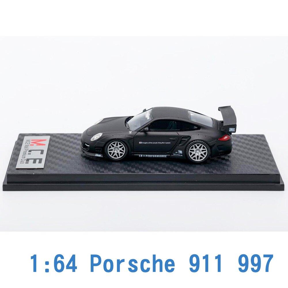M.C.E. 1/64 模型車 Porsche 保時捷 911 997 (MATTE BLACK) MCE640002D 黑色