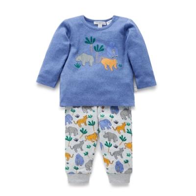 100%有機棉 柔軟舒適透氣 上衣可愛動物印花 外出穿也可以