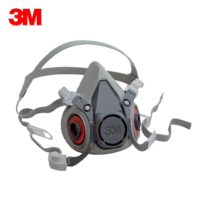 3M 6200 防毒口罩、面具、面罩 (單) 半罩式,雙罐式,配件須另購:可搭配6001濾毒罐、5N11濾棉、501濾蓋 公司貨