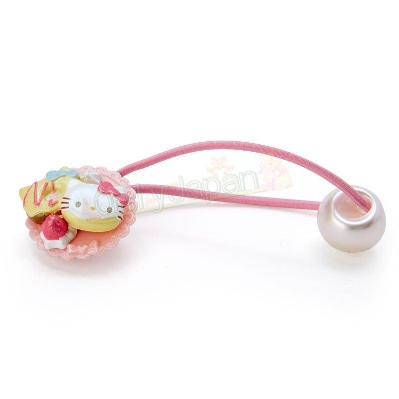 【真愛日本】4901610337820 美食造型髮束-KT粉AAFB 凱蒂貓kitty 兒童 配件 髮繩 髮圈 頭圈 髮飾 髮圈 綁頭髮