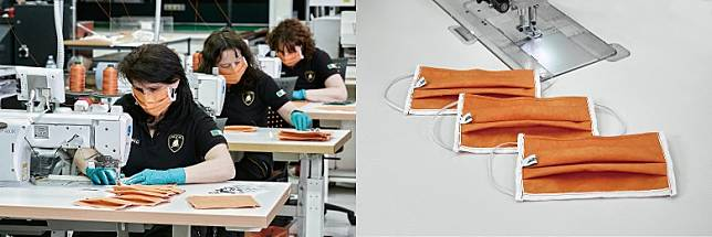 醫用外科口罩方面,由林寶堅尼內飾生產和特別定制項目的部門負責,口罩日產量可達到1,000個。(互聯網)