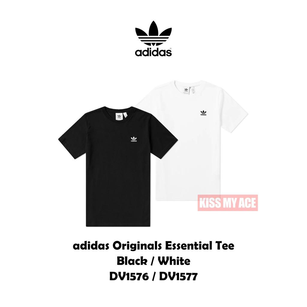 adidas Originals Tee DV1576 DV1577 黑 白 電繡 素T 小Logo 厚 現貨