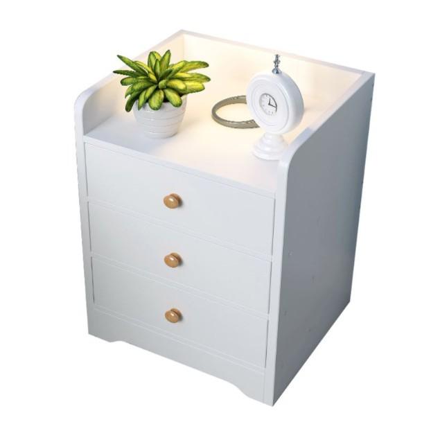 品名:床頭櫃型號:SY201材質: 人造板人造板種類: 密度板/纖維板尺寸:D款33*30*59cm/G款43*30*60cm重量:6KG安裝方式: 組裝保固:30天 每一件商品都有出貨小幫手檢查再寄