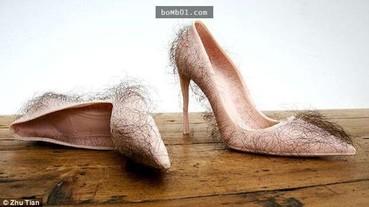 多毛肉色高跟鞋 你敢穿出門嗎?