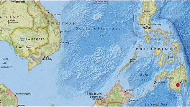 เกิดแผ่นดินไหวขนาด 6.8 ทางตอนใต้ของฟิลิปปินส์