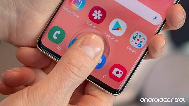 Sensor sidik jari dalam layar milik Samsung