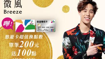 微風會員悠遊購 悠遊卡超值換點數