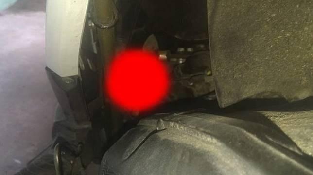 Binatang yang menyelinap di sekitar mesin motor. (Facebook/Fredrick Jonathan)