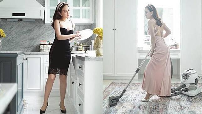 6 Gaya Shandy Aulia Urus Pekerjaan Rumah, Pakai High Heels Saat Cuci Baju