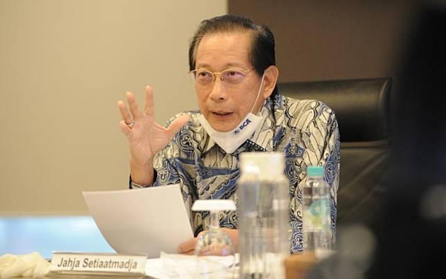 Presiden Direktur BCA Jahja Setiaatmadja saat paparan kinerja kuartal I/2020 secara live, Rabu (27/5/2020). Dokumen BCA.