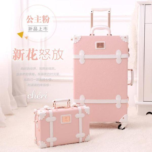 行李箱-復古行李箱女皮箱拉桿箱旅行箱小型可愛萬向輪登機箱20寸密碼箱子 YYS 花間公主