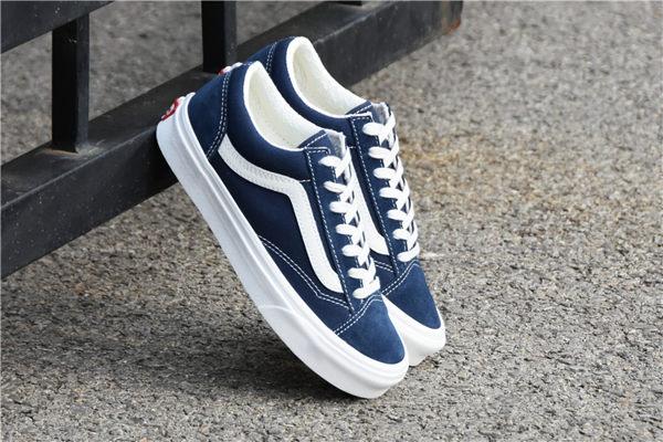 現貨 VANS Style 36 Deacon SF 深藍 牛仔 白 復古 帆布鞋 男女鞋 VN0A3MVLUBA