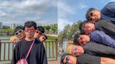 團體拍照總是尷尬比Ya?快跟著韓國歐爸擺出超有創意的浮誇Pose!