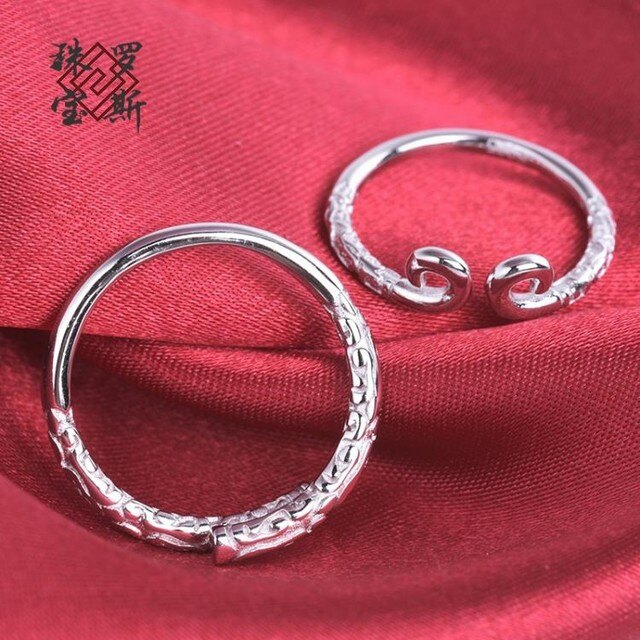 「羅斯珠寶」925銀緊箍咒金箍棒情侶對戒 活口對戒指環可自由調節