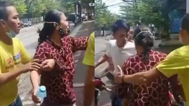 Viral video ibu-ibu korban ledakan bom. (Instagram/cetul.22)