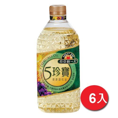 桂格得意的一天五珍寶健康調和油2.4Lx6【愛買】