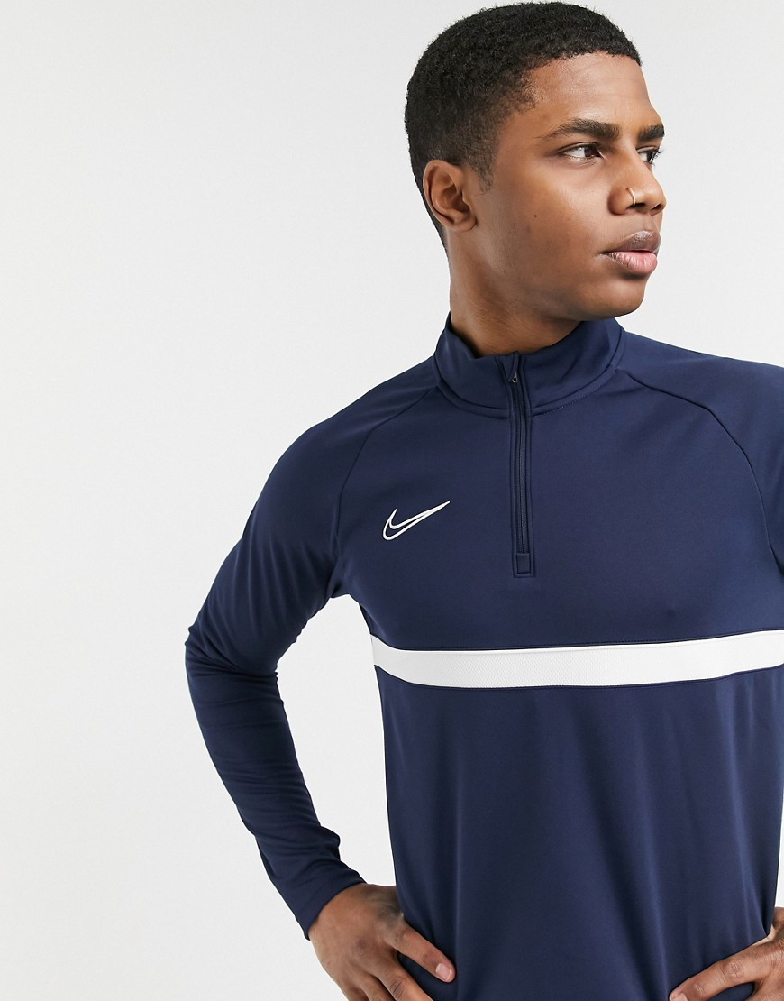 Top by Nike That fresh-kit feeling High neck Raglan sleeves Nike logo embroidery to chest Stripe det
