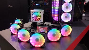 Computex 不能沒有 RGB!從鍵盤、機殼、主機板到風扇都要閃亮,一次看完展場中炫麗的「光害」產品