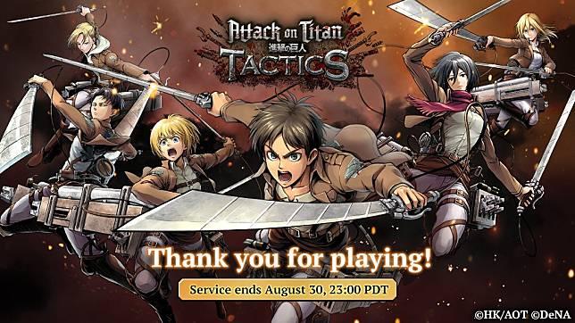 Attack on Titans Tactics resmi ditutup untuk kedepannya!
