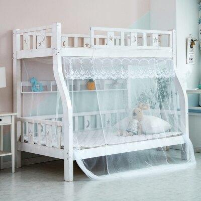 家用蛟帳 子母床蚊帳家用上下床高低梯形床蛟脹拉鍊式學生宿舍免安裝開門ab3458