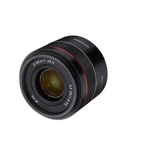 SAMYANG AF 45mm F1.8 FE FOR Sony E-mount自動對焦鏡頭 (公司貨) 贈吹球+拭鏡筆+運動收納袋